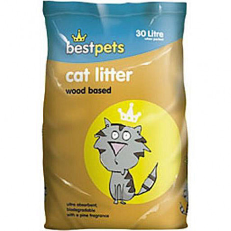 Bestpets Wood Based Cat Litter 30Ltr
