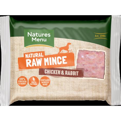 Natures Menu Chicken & Rabbit Raw Mince - 400g