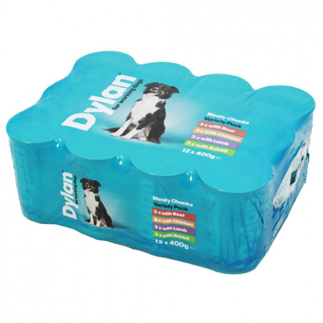 Dylan Meaty Chunks Variety Pack 12x400g